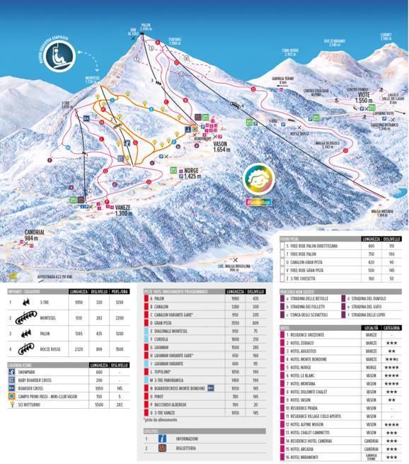 Mappa Delle Piste Monte Bondone